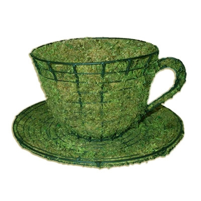 Mossed Topiary - Teacup & Saucer
