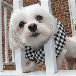 Puppy Bumpers - Black & White Check