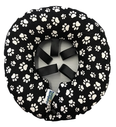 Puppy Bumpers - Black with White Paws up to 10""