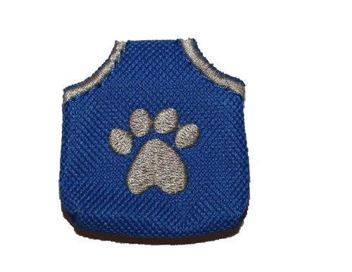 The Peace Tag - paw print style (dog tag silencer)