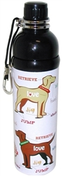 Pet Water Bottle - PUPPY LOVE (24 oz )  Case of 24