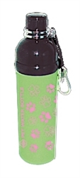 Pet Water Bottle - GREEN PAWS (24 oz )  Case of 24