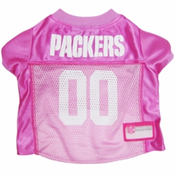 NFL Green Bay Packers Dog Jerseys Pink
