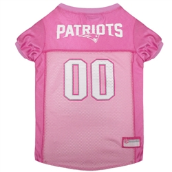 NFL New England Patriots Dog Jerseys Pink