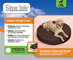 Silver Tails™ Bamboo Charcoal Bed Toppers (round) - Small/Medium