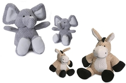 Checkered Plush Animals with Chew Guard™