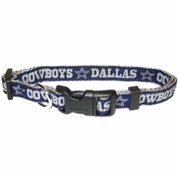 NFL Dallas Cowboys Dog Collars & Leashes - Ribbon