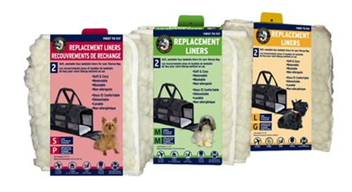 """Sherpa Pet - Replacement  Liner Small (2 pack), 14.5"""" x 9.75"""" x .25"""""""