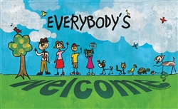 Stick Figure Doormat - Everybody's Welcome