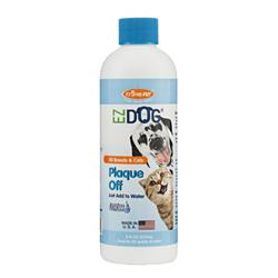 EZ Dog Plaque Off Fresh Breath Drinking Water Additive for Dogs and Cats, 8oz