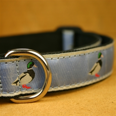 """Slate Blue Mallard Hemp Conservation Collection Collars and Leashes - 1"""" ONLY"""