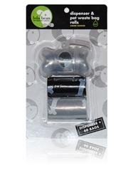 BOY Transparent Bone Shape Dispenser & Biodegradable Waste Pick-Up Bags