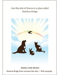 Rainbow Bridge Pet Sympathy Card