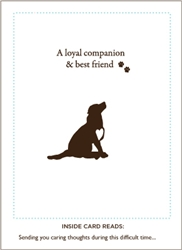 Loyal Companion and Best Friend Pet Sympathy Card