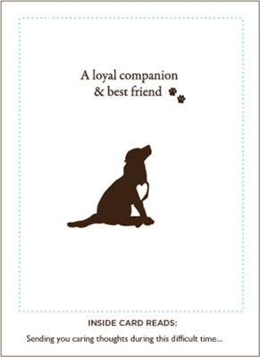 Loyal Companion and Best Friend Pet Sympathy Card