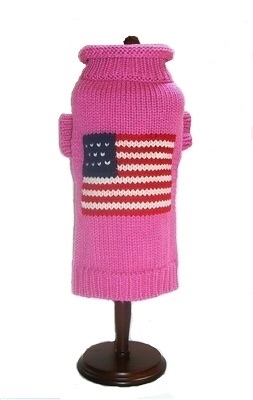 Patriotic Pup Sweater (3 colors Navy, Grey, Pink)