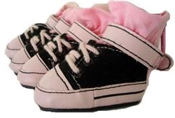 Black & Pink Sneakers