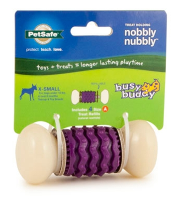 Busy Buddy® Nobbly Nubbly™ Dog Chew Toy w/ Gnawhide® Treats