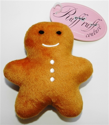 Sugar & Spice Gingerbread Cookie Plush Toy with Squeaker by Ruff Ruff Couture®