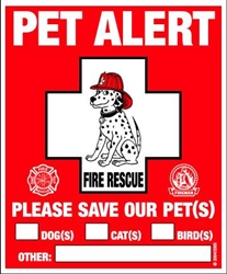 Rescue Rover Pet Safety Window Decal 2pk