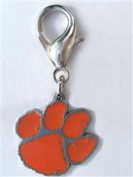 Clemson University Tigers Dog Collar Charm