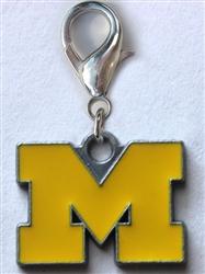 University of Michigan Wolverines Dog Collar Charm