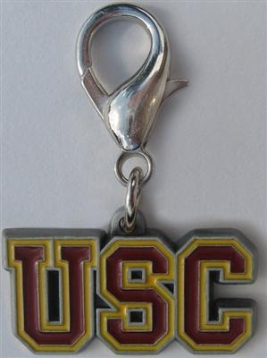 USC Trojans Dog Collar Charm