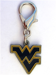 West Virginia Mountaineers Dog Collar Charm