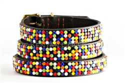 Flat Bead Confetti Collar & Leash Collection