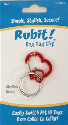 Heart Shaped Collar Clips