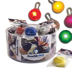 Multi-Color Pet Safety Lights | Countertop Bucket of 24 Units