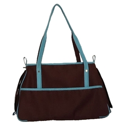 Petote Charlie Bag - Chocolate Brown & Blue