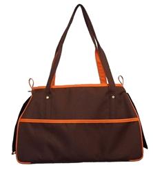 Petote Charlie Bag - Choclate Brown & Orange
