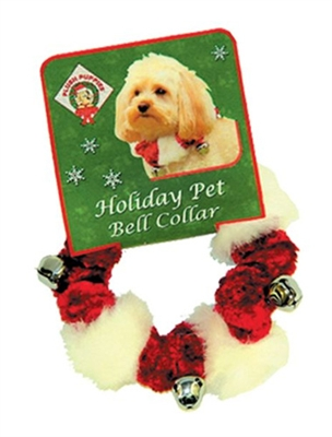 Red Bell Collars with White Trim