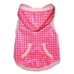 Sportie Chic Pink Gingham Hoodie by Ruff Ruff Couture®
