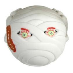 "4"" Vinyl Mummy Ball / Halloween Tag"