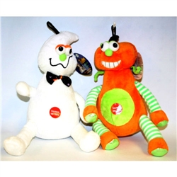 "Halloween Spooky Odd Couple W/Squeaker / 9"" / Tag"