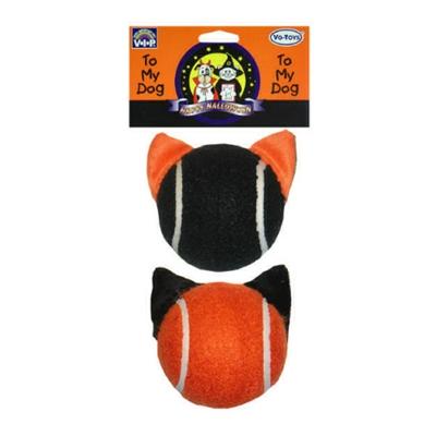"""Halloween """"Cat Ears"""" Tennis Balls / 2.5"""" / 2 Pack"""