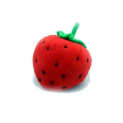 Squeaky Strawberry - Dog Toy