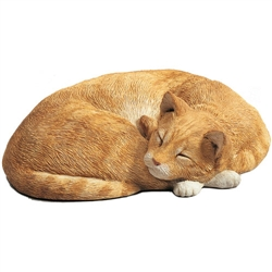 Sandicast Life Size Orange Cat