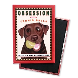 Obsession Tennis, Chocolate Lab MAGNETS
