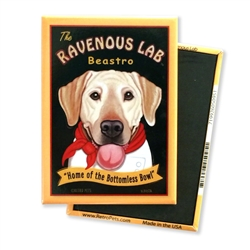 Ravenous Lab - Yellow Lab MAGNETS