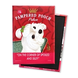 Maltese - Pampered Pooch MAGNETS