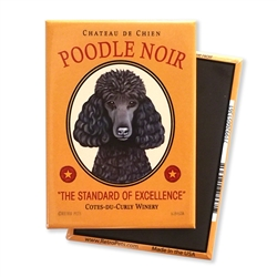 Poodle Noir MAGNETS