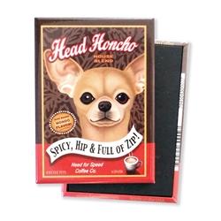 Chihuahua Head Honcho MAGNETS