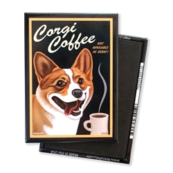 Corgi Coffee MAGNETS
