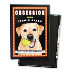 Labrador - Obsession Tennis, Yellow Lab MAGNETS