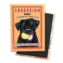 Labrador - Obsession Tennis, Black Lab MAGNETS