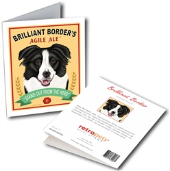 Border Collie - Brilliant Border GREETING CARD - 6 Cards