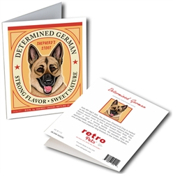 German Shepherd - Determined German GREETING CARDS - 6 Cards